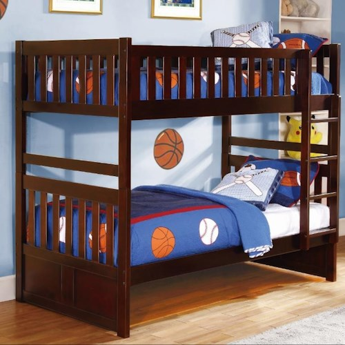 Vendor 2258 Rowe Twin Bunk Bed with Slats
