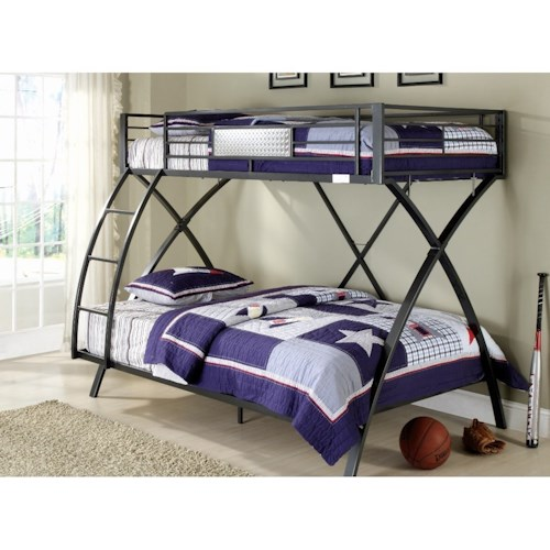 Blue And Crome Bunk Beds Twin 64