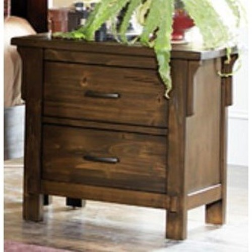 Homelegance Terrace Mission Nightstand with 2-Drawers