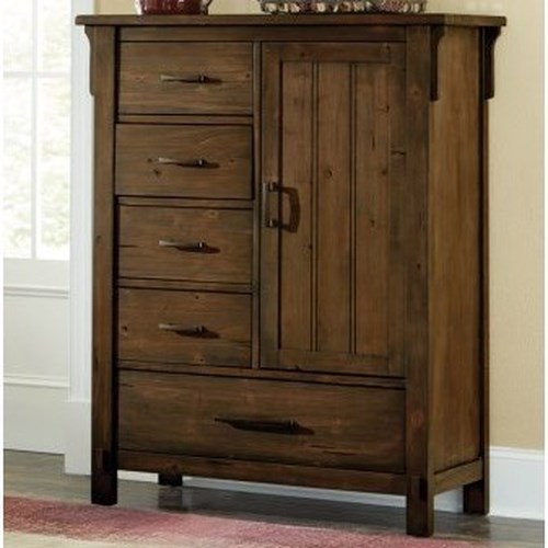 Homelegance Terrace Mission 5-Drawer Chest with Doors