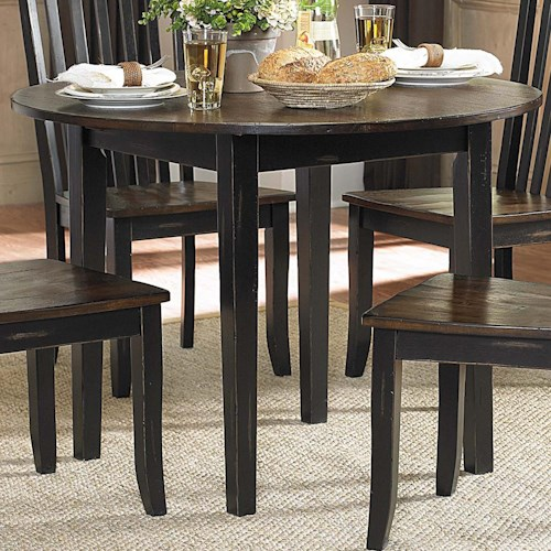 Homelegance Three Falls Round Dining Table with Drop Leaves