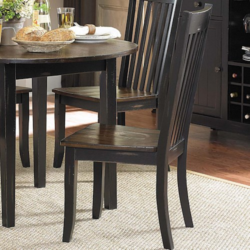 Homelegance Three Falls Side Chair with Slat Back