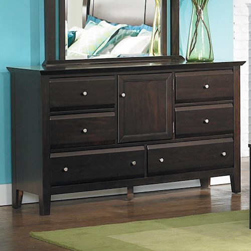 Homelegance Verano 6-Drawer Dresser with Door