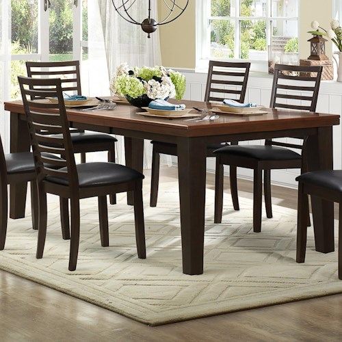 Homelegance Walsh Rectangle Dining Table with Butterfly Leaf