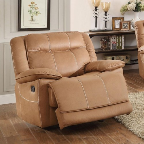 Homelegance Wasola Casual Recliner with Accent Stitching