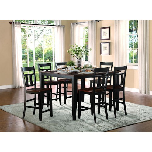 Homelegance Westport 7 Piece Counter Height Set with Extendable Table