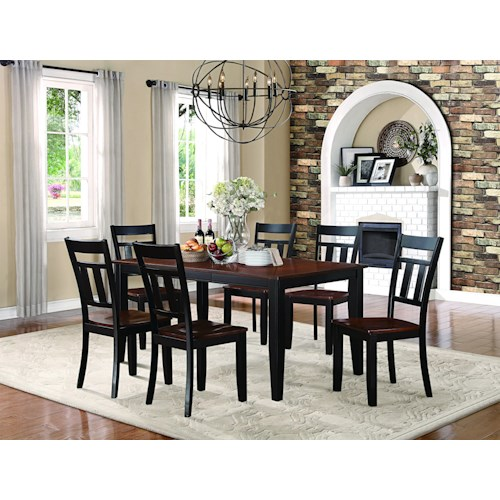 Homelegance Westport 7 Piece Table and Chair Dining Set with 18