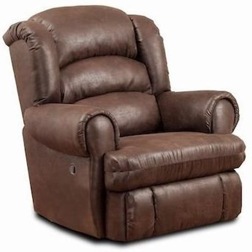 Comfort Living 113 Casual Power Big and Tall Recliner with Rolled Arms