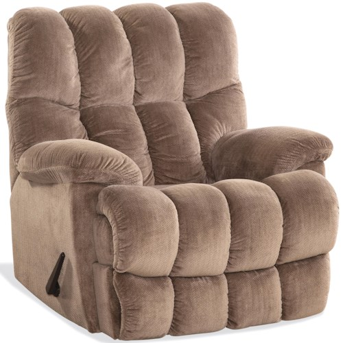 HomeStretch 121 Collection Casual Recliner with Split Channel Back