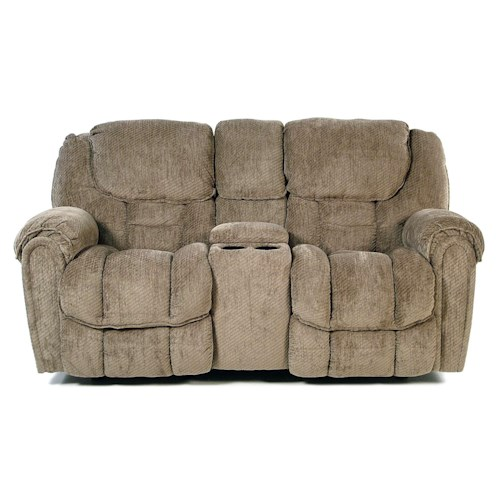 Comfort Living Baxter Casual Reclining Loveseat with Storage in Arm