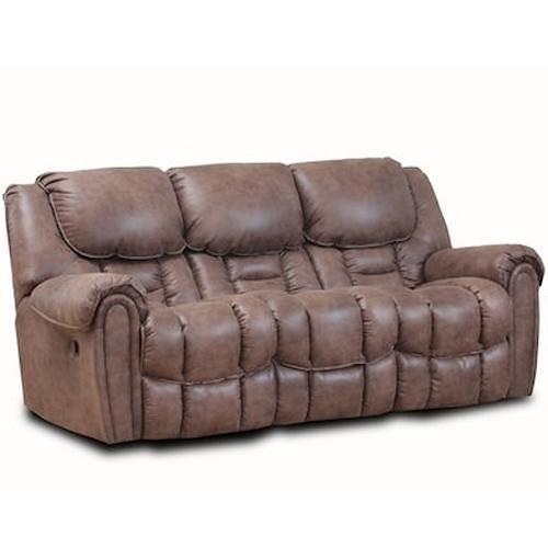HomeStretch 122 Casual Power Reclining Sofa With Pillow Top Arms