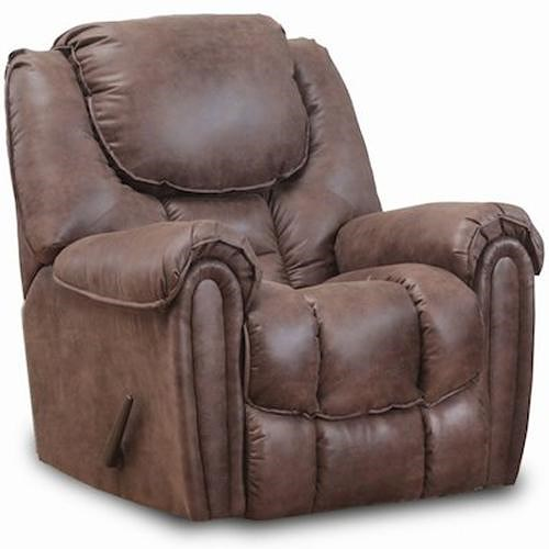 Comfort Living Baxter Casual Rocker Recliner with Pillow Top Arms