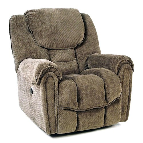 Comfort Living Baxter Casual Power Rocker Recliner with Pillow Top Arms