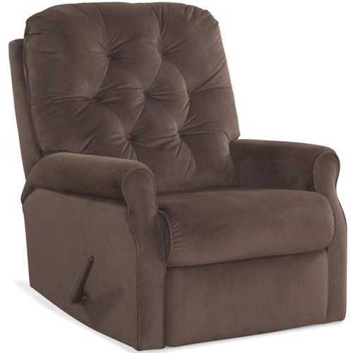 Comfort Living R&R Casual Recliner with Diamond Button Tufting