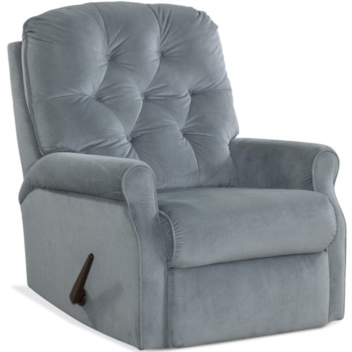 HomeStretch 127 Collection Casual Recliner with Diamond Button Tufting