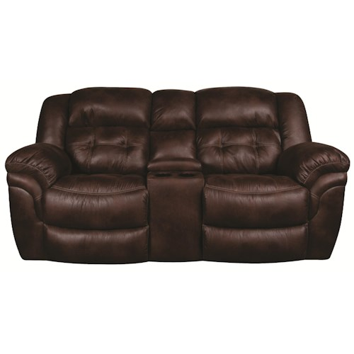 Morris Home Furnishings Elijah Reclining Loveseat with Console