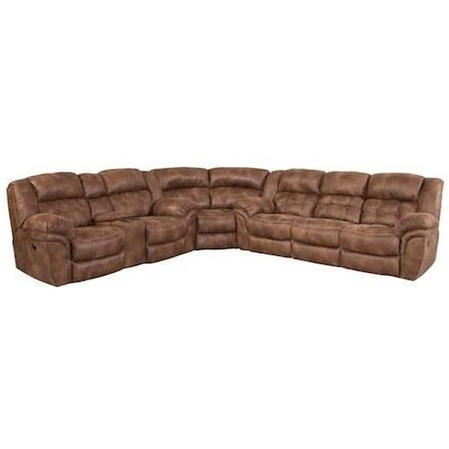Comfort Living Sierra Casual Super-Wedge Sectional with Tufted Seats and Back