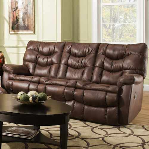 HomeStretch 130 Casual Reclining Sofa with Pillow Top Arms
