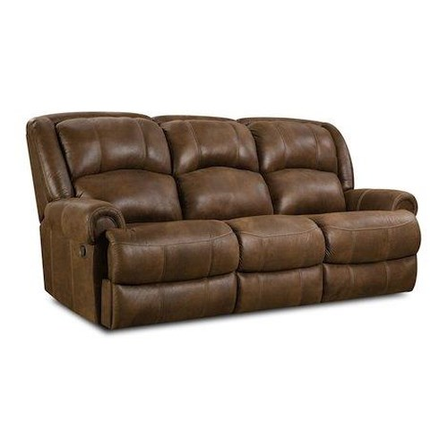 HomeStretch 131 Casual Reclining Sofa with Rolled Arms