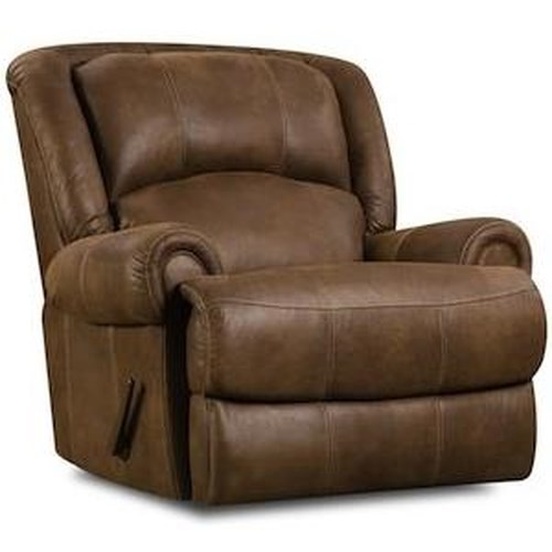 HomeStretch 131 Casual Rocker Recliner with Split Back