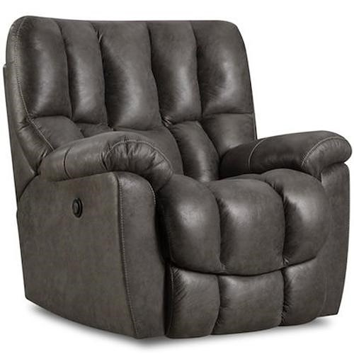 Comfort Living 133-91 Casual Rocker Recliner with Overstuffed Biscuit Back Design