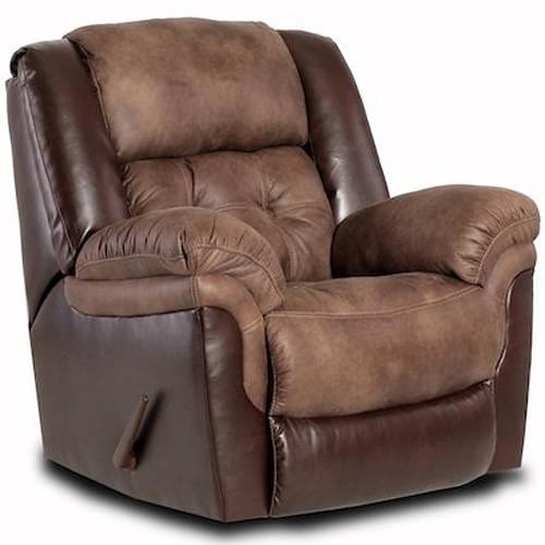 HomeStretch 139 Casual Rocker Recliner