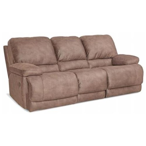 HomeStretch 147 Casual Reclining Sofa with Split Back and Full Chaise Cushions