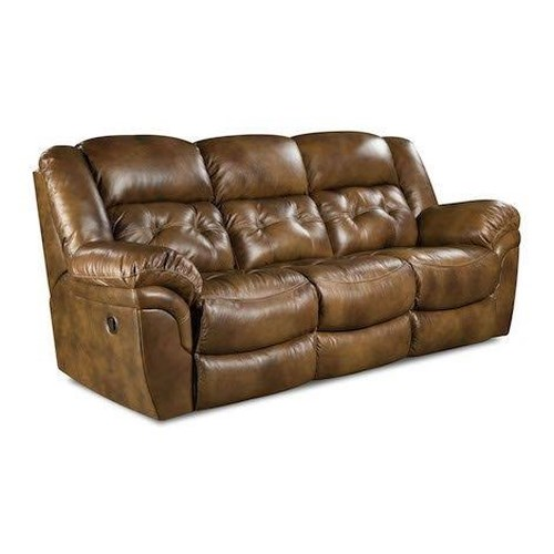 HomeStretch 155 Cheyene Leather Double Reclining Sofa