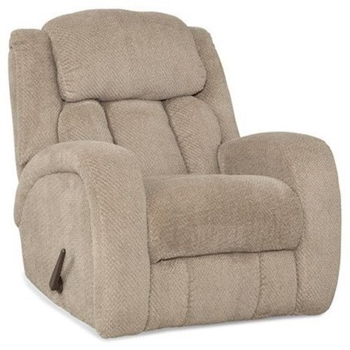 HomeStretch Apollo Monroe Rocker Recliner with Rounded Track Arms