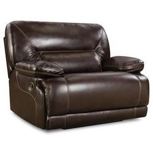 HomeStretch Marshall Casual Power Chair-and-a-Half Recliner with Full Chaise Cushion