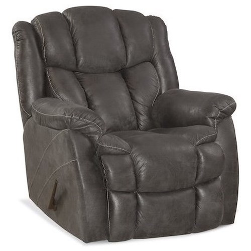 HomeStretch Renegade Casual Rocker Recliner with Bustled Back