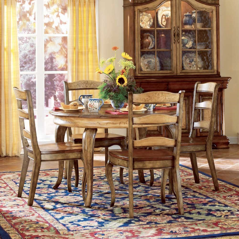 hooker furniture vineyard 5 piece dining set - wayside furniture