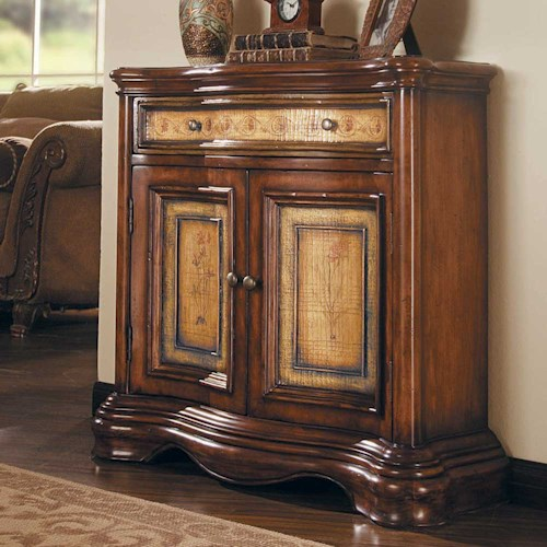 Hooker Furniture Vineyard Two Door/One Drawer Two-Tone Shaped Hall Chest