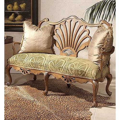 Century Century Chair Wood Framed Motif Love Seat
