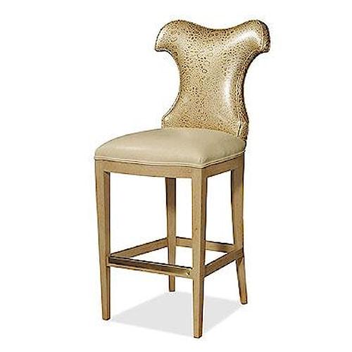Century Century Chair Unique Back Shape Bar Stool