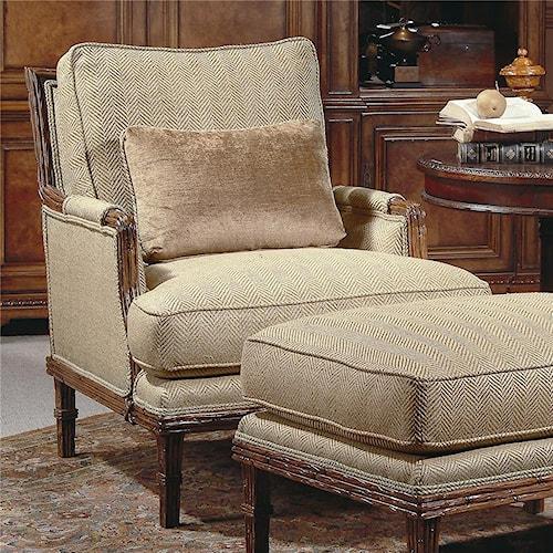 Century Century Chair Wicker Framed Upholstered Chair