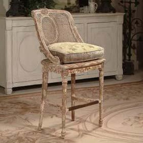 Century Century Chair Distressed Weaved Bar Stool
