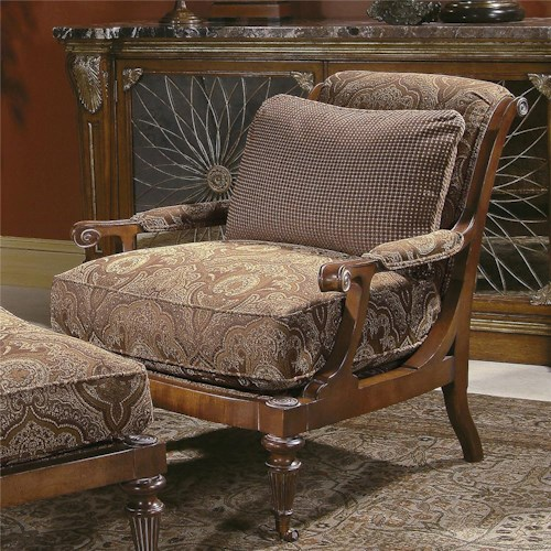Century Century Chair Traditional Resting Chair with Accent Pillow