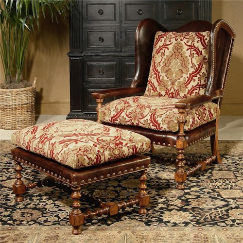 Century Century Chair Matching Wing Chair and Ottoman