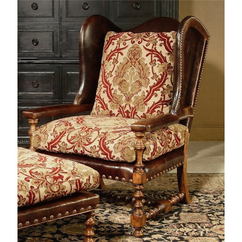 Century Century Chair Wing Chair with Intricately Designed Base