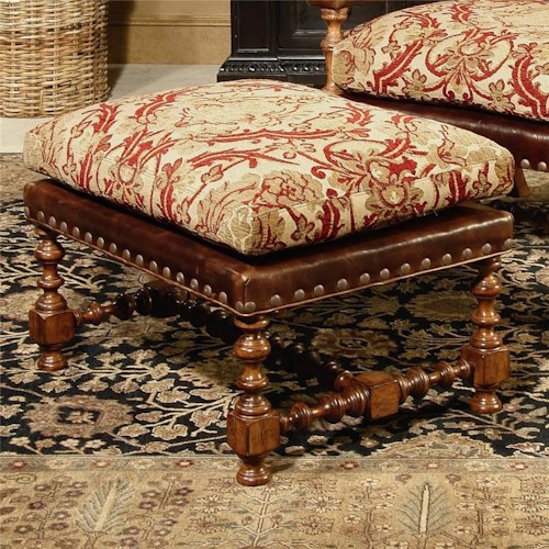 Century Century Chair Ottoman with Nailhead Trimming