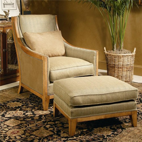 Century Century Chair Matching Chair and Ottoman