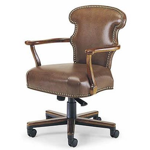 Century Century Chair Office Chair with NailHead Trim and with Casters