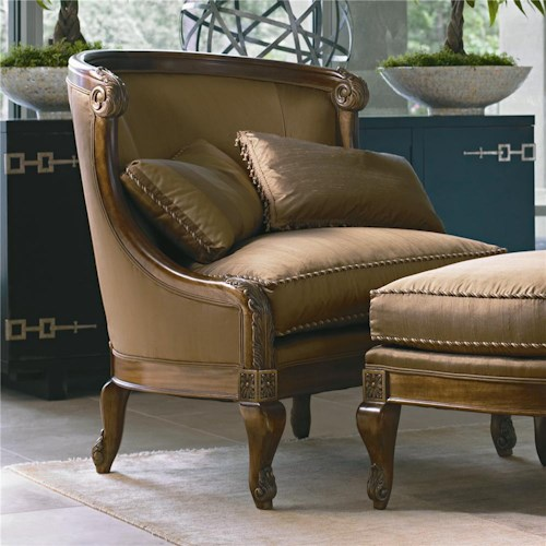 Century Century Chair Curved back with Elegant Nailhead Trim