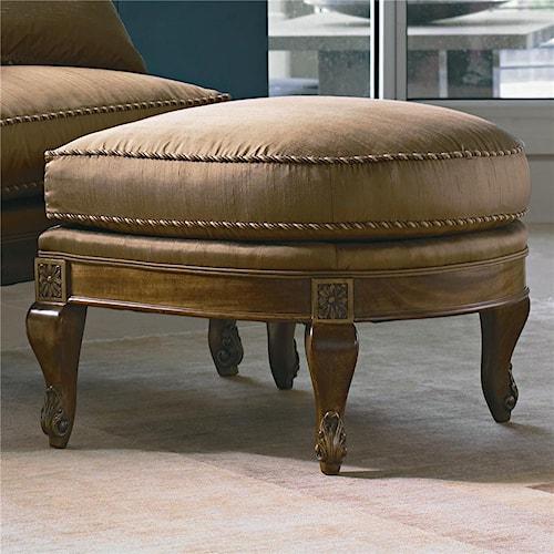 Century Century Chair Nailhead Trimmed Ottoman
