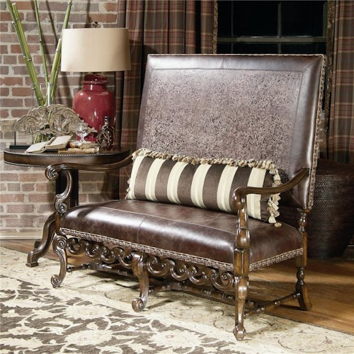 Century Century Chair Elegant Settee with High Back