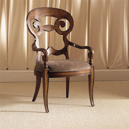 Century Century Chair Armchair with Scrolled Back Desing