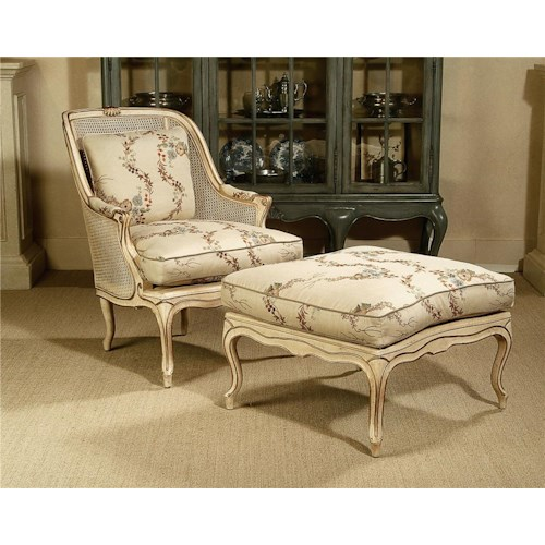 Century Century Chair Antique Style Chair and Footrest