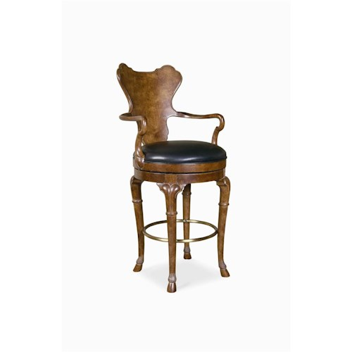 Century Century Chair Barstool with Round Plush Seat