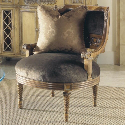 Century Century Chair Arm Chair with Oversized Round Seat